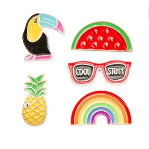 Jewelry - 🎀3/$22🎀 Pineapple Watermelon Rainbow|Pin Bundle|